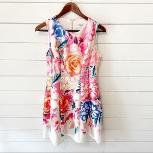 Eliza j   Floral sleeveless mini dress 6P